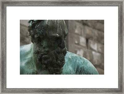 Neptune Statue 3 Framed Print