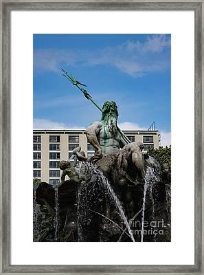 Neptune Statue Framed Print by Nichola Denny