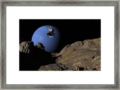 Neptunes Moon Proteus Framed Print
