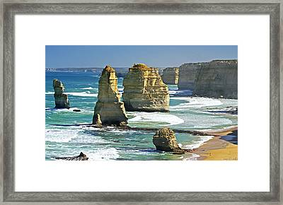Neptune's Sculptures Framed Print by Holly Kempe