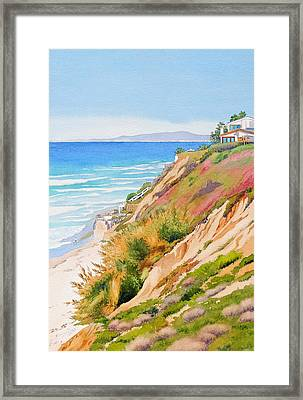 Neptune's View Leucadia California Framed Print by Mary Helmreich