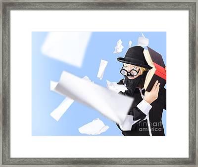 Nerd Businessman. Best Practise Marketing Advice Framed Print
