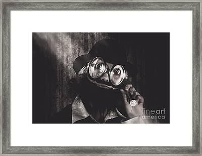 Nerd Science Person On Search For Knowledge Idea Framed Print