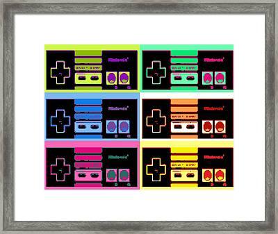 Nes Pop Framed Print by Paul Van Scott