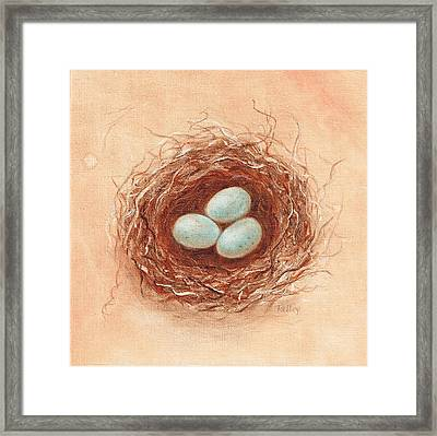 Nest In Umber Framed Print