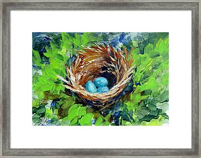 Nesting Eggs Framed Print