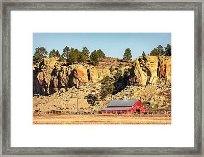 Nestled Along The Cliffs Framed Print by Todd Klassy