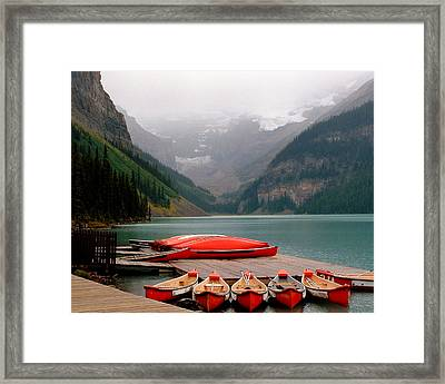 Nestled Boat Launch Framed Print by Diane Wallace