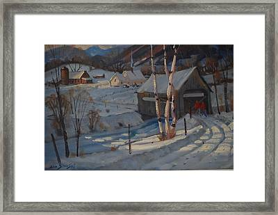 Nestled In The Berkshires Framed Print by Len Stomski