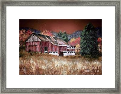 Framed Print featuring the digital art Nestled In The Laurel Highlands by Lois Bryan