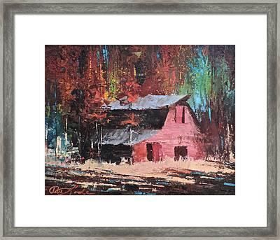 Nestled In The Pines Framed Print