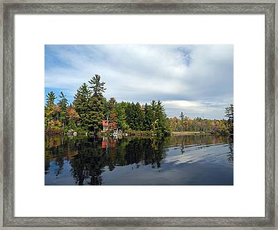 Nestled On The Far Shore Framed Print by Lynda Lehmann