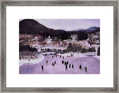 Nestlenook Farm Holiday Framed Print by Gail Wurtz
