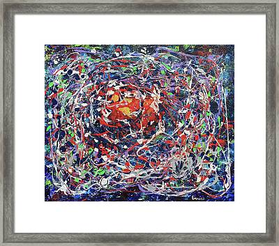 Net Of Indra Framed Print