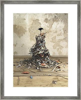 Net Worth Framed Print by Cynthia Decker