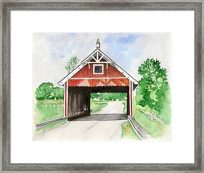 Netcher Road Bridge Framed Print by Laurie Anderson
