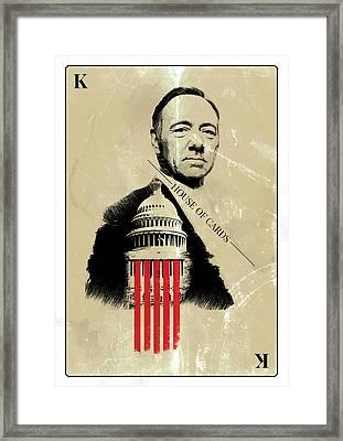 Netflix House Of Cards Frank Underwood Portrait  Framed Print
