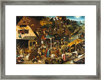 Netherlandish Proverbs Framed Print by Celestial Images