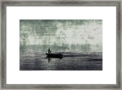 Framed Print featuring the photograph Netherworld Lake by Steven Huszar