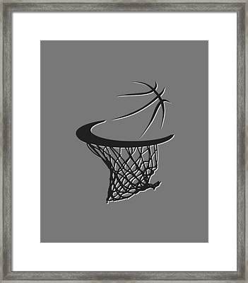 Nets Basketball Hoop Framed Print