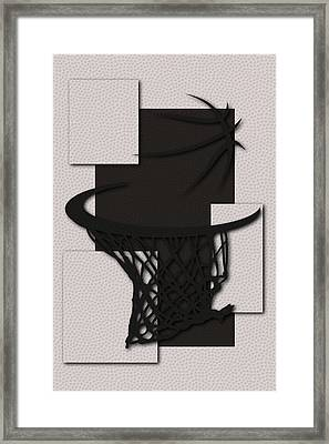 Nets Hoop Framed Print by Joe Hamilton