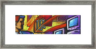 Network And Technology Framed Print