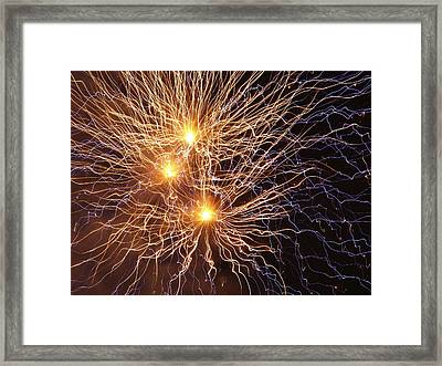 Network Of Fire Framed Print by Michael Canning