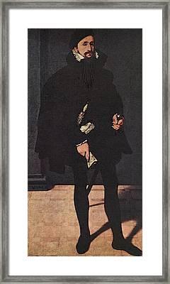 Neufchatel Nicolas Portrait Of Hendrik Pilgram Framed Print