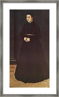 Neufchatel Nicolas Portrait Of The Wife Of Hendrik Pilgram Framed Print