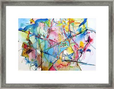 Neuro Roads Framed Print