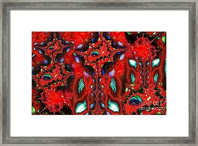 Neuron Cluster Framed Print by Ron Bissett
