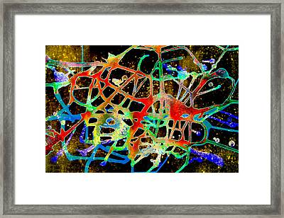 Framed Print featuring the painting Neuron2 by Mordecai Colodner
