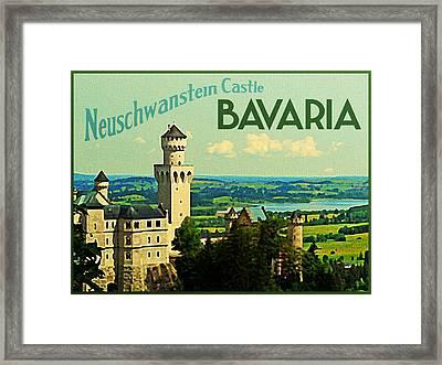 Neuschwanstein Castle Bavaria Framed Print by Flo Karp
