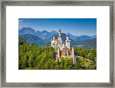 Neuschwanstein Fairytale Castle Framed Print