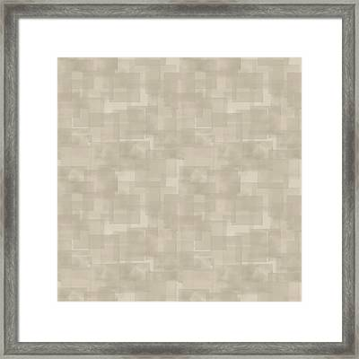 Neutral Brown Abstract Pattern Framed Print