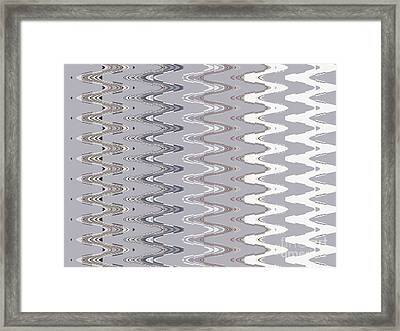 Neutral Graphic Tapestry Framed Print by Ann Johndro-Collins