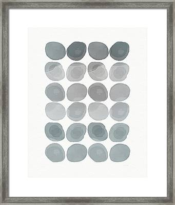 Neutral Stones- Art By Linda Woods Framed Print by Linda Woods