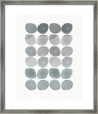 Neutral Stones- Art By Linda Woods Framed Print