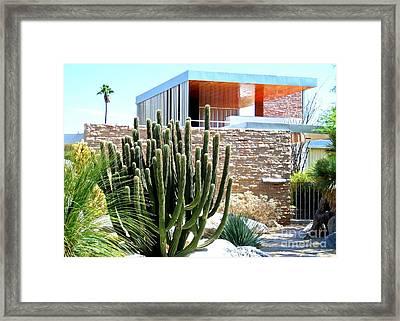 Neutra's Kaufman House 2 Framed Print by Randall Weidner