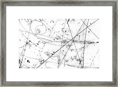 Neutrino Particle Interaction Event Framed Print by Fermi National Accelerator Laboratory