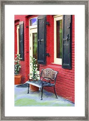 Nevada City Bench Framed Print