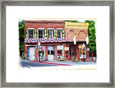 Nevada City Chamber Framed Print