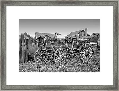 Nevada City Montana Freight Wagon Framed Print