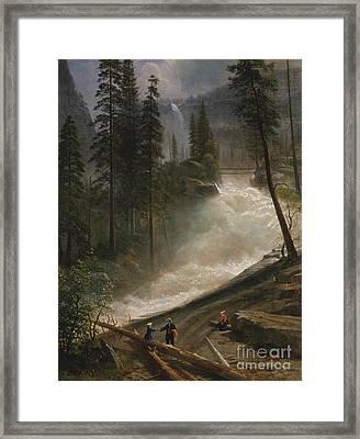 Nevada Falls Yosemite                                Framed Print by John Stephens