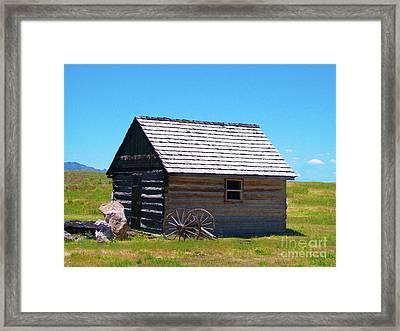 Nevada Log Cabin Framed Print
