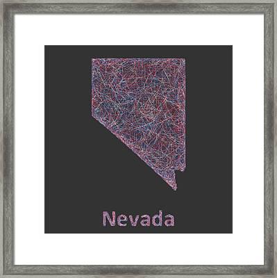 Nevada Map Framed Print by David Zydd