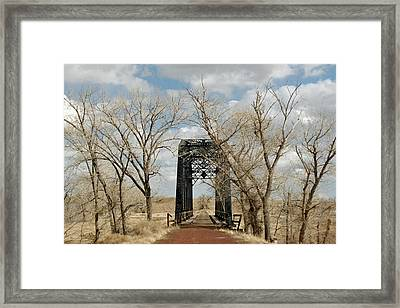 Nevada Railroad Bridge Framed Print by Suzanne Lorenz