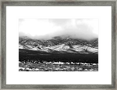 Nevada Snow Framed Print