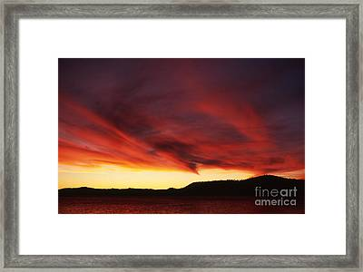 Framed Print featuring the photograph Nevada Wave by Edward R Wisell