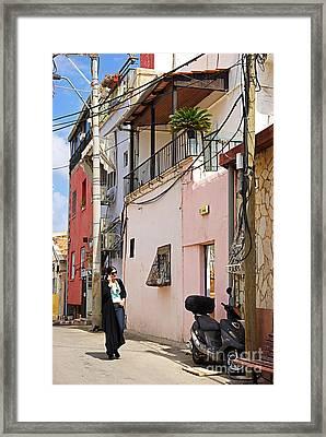 Neve Tzedek Neighborhood In Tel Aviv Framed Print by Zalman Latzkovich